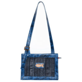 Satchel Shoulder Bag – Navy Red Touch