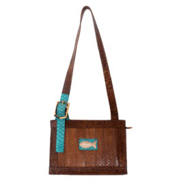 Satchel Shoulder Bag – Touch Of Turquoise