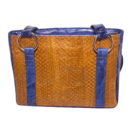Satchel Shoulder Purse – Golden Blue