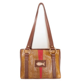 Satchel Shoulder Purse – Scarlet Twist